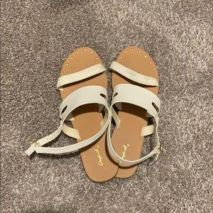 White sandals!!
